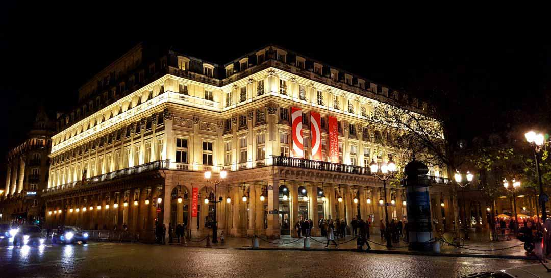 The French comedy founded in 1680 and resident since 1799 Richelieu room in the heart of the Palais-Royal in the 1st district of Paris.